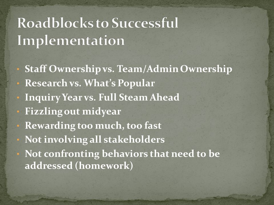 Staff Ownership vs. Team/Admin Ownership Research vs.
