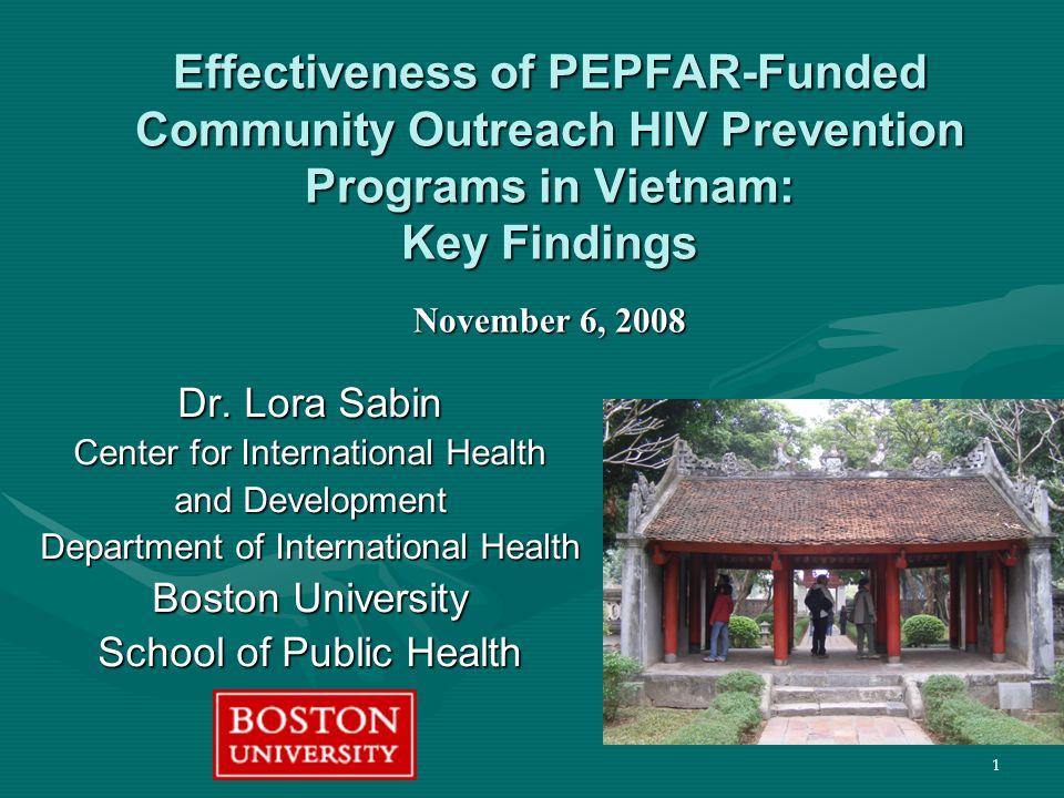 2 Evaluation Team Members and Affiliations Boston University School of Public Health Lora Sabin, MA, PhD Mary Bachman DeSilva, MS, ScD Davidson H.