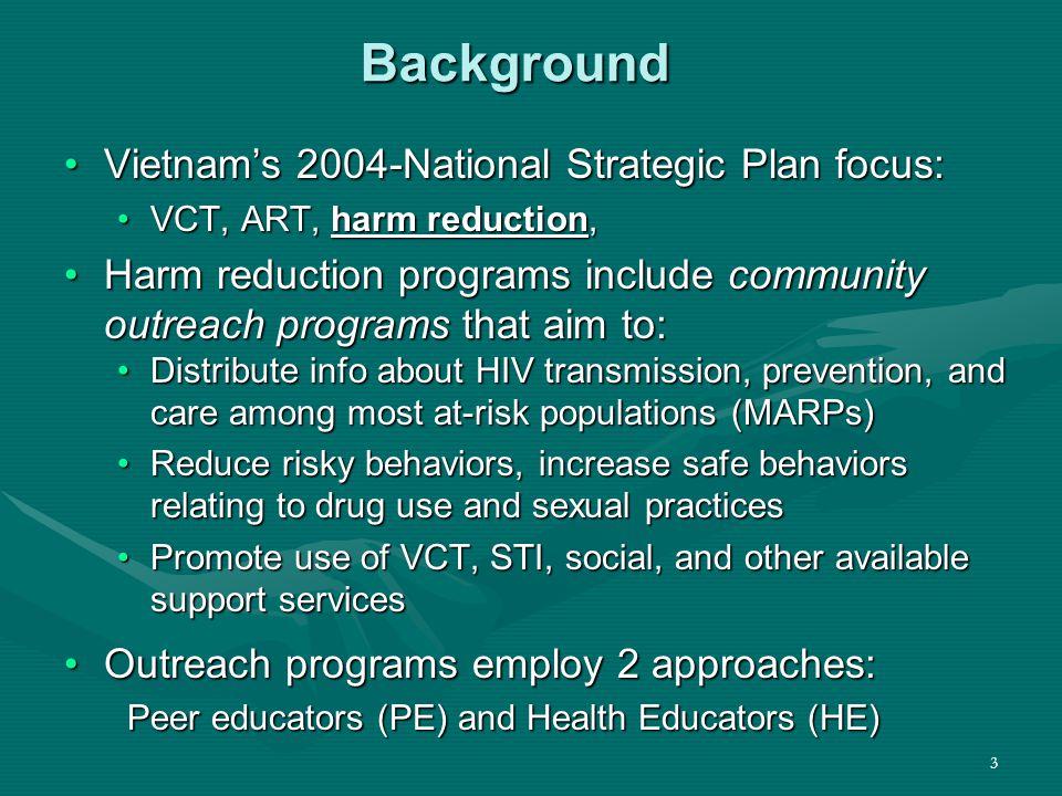 4 Public Health Evaluation of PEPFAR- supported HIV/AIDS Outreach and Referral Programs Family Health InternationalFamily Health International CDC LIFEGAPCDC LIFEGAP Médecins du MondeMédecins du Monde CARE InternationalCARE International