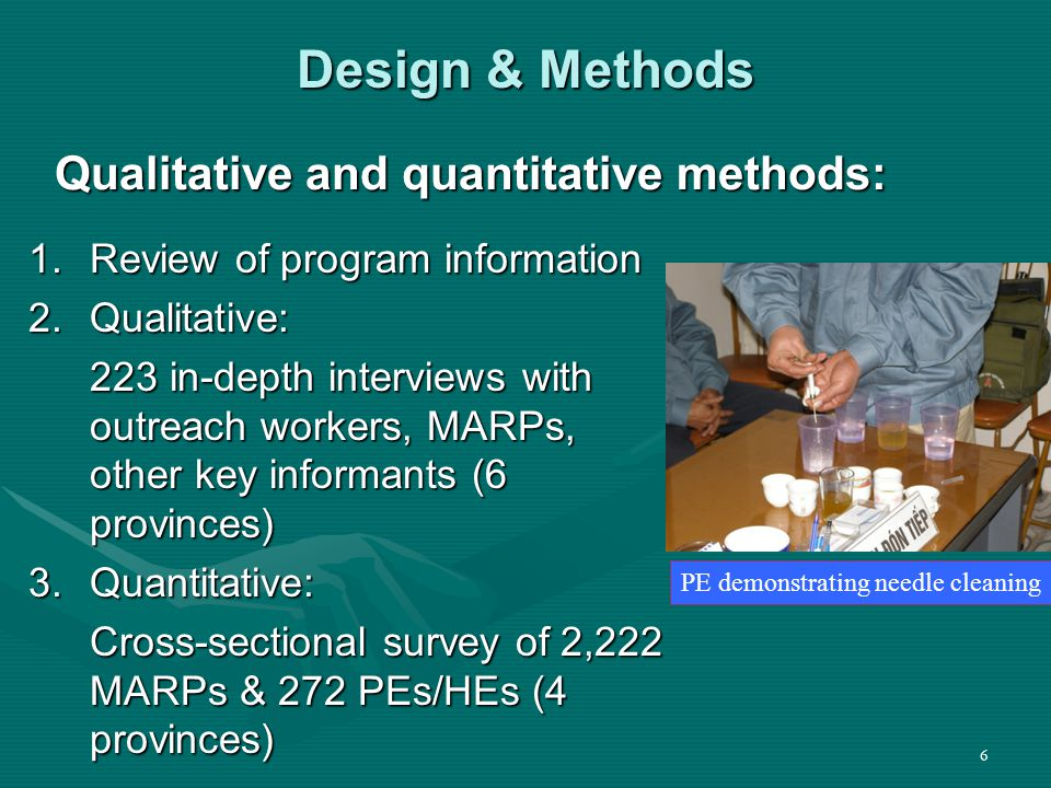 47 Key Informants on Program Weaknesses Challenges:Challenges: Policy conflictsPolicy conflicts Inability to distribute sterile needles/syringesInability to distribute sterile needles/syringes Turnover, mediocre PE performance, low salariesTurnover, mediocre PE performance, low salaries Geographic coverageGeographic coverage Little coordination between PEPFAR-funded and other outreach programsLittle coordination between PEPFAR-funded and other outreach programs But views varied on whether this is a major issueBut views varied on whether this is a major issue  These views generally shared by PEs/HEs and MARPs