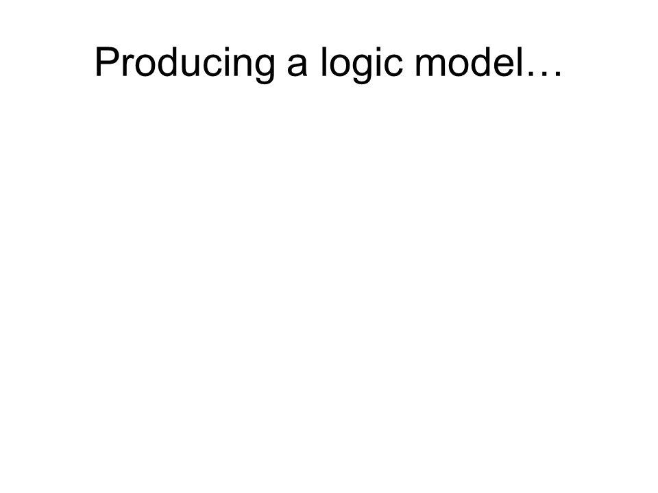 Producing a logic model…