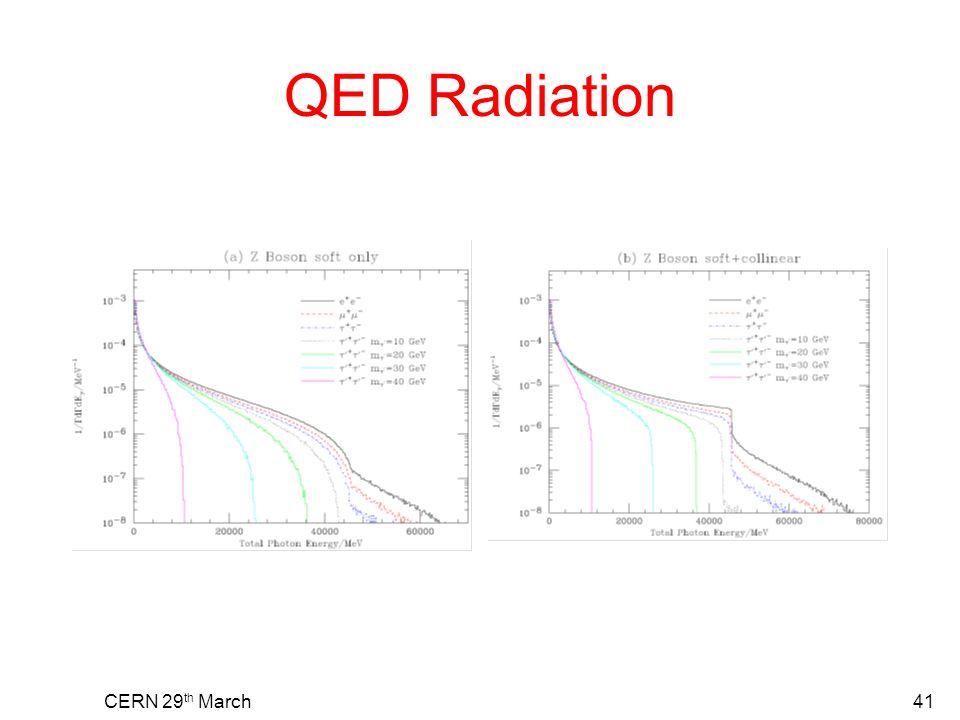 QED Radiation CERN 29 th March41