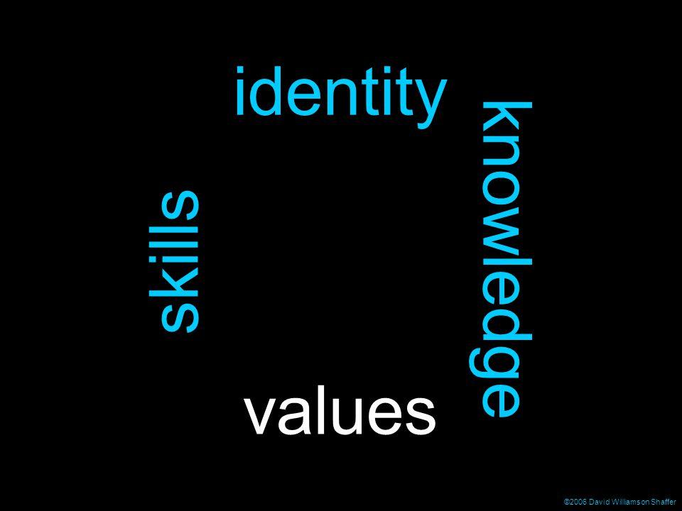 ©2006 David Williamson Shaffer identity skills knowledge values