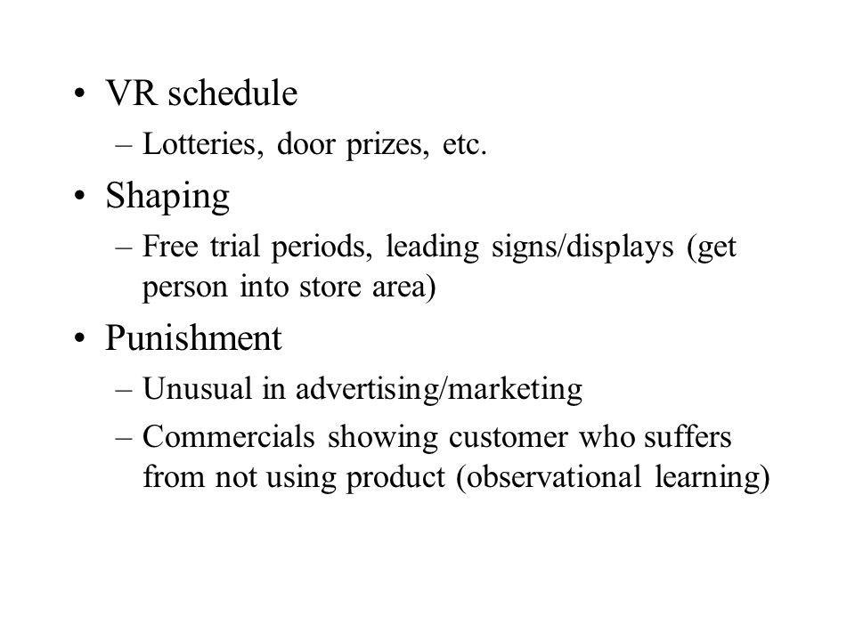 VR schedule –Lotteries, door prizes, etc.