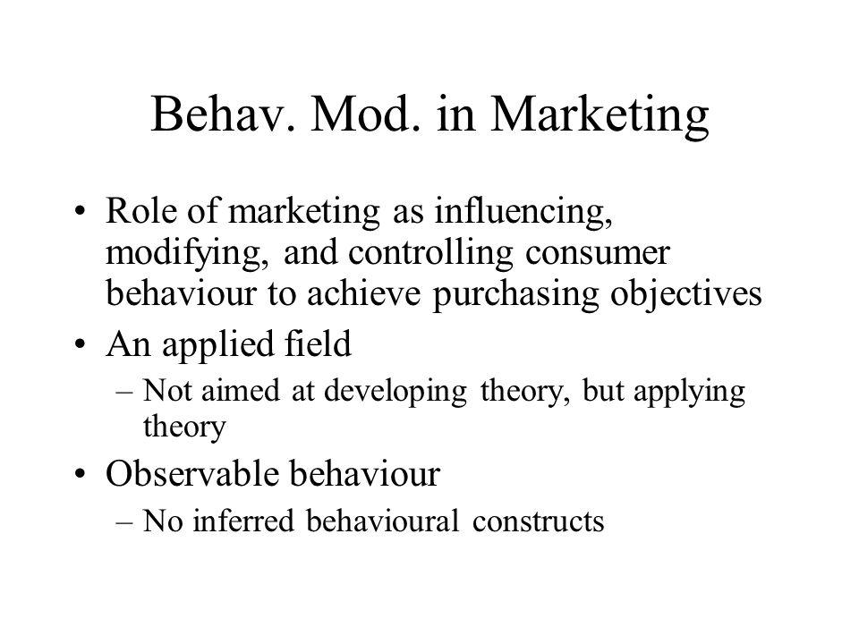 Behav. Mod.