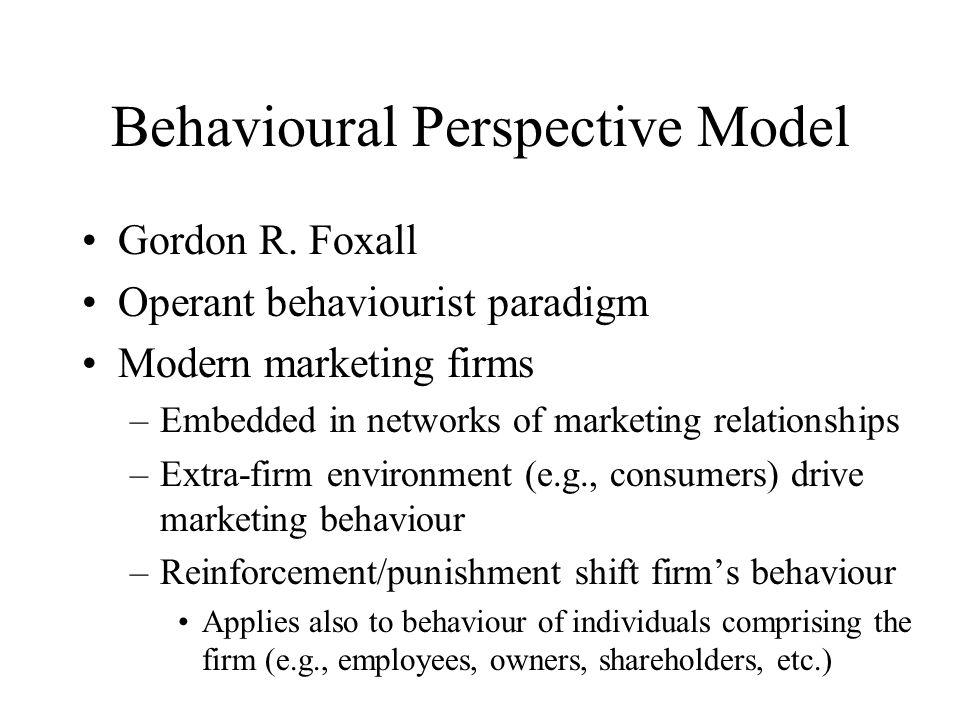 Behavioural Perspective Model Gordon R.