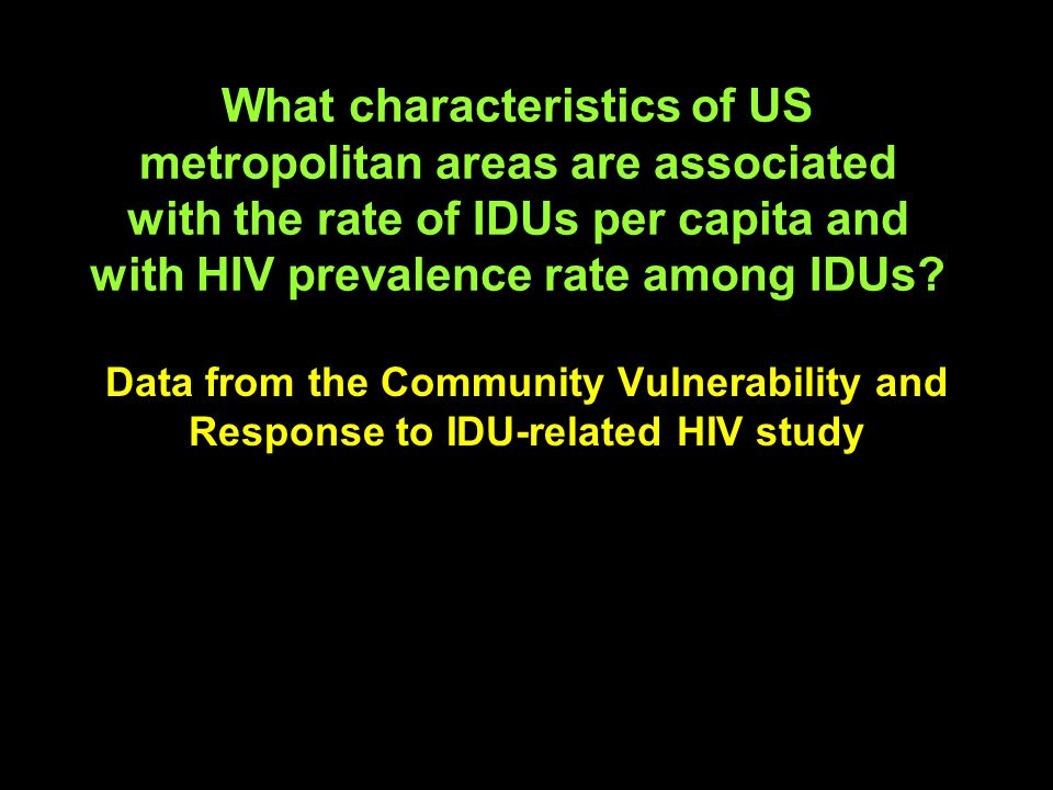 I will now show evidence that IDUs, crack smokers, and other community residents are active participants in the fight against HIV Thus, theories that view IDUs as helpless victims of addiction or as uncaring spreaders of HIV and other infections seem to be misleading.