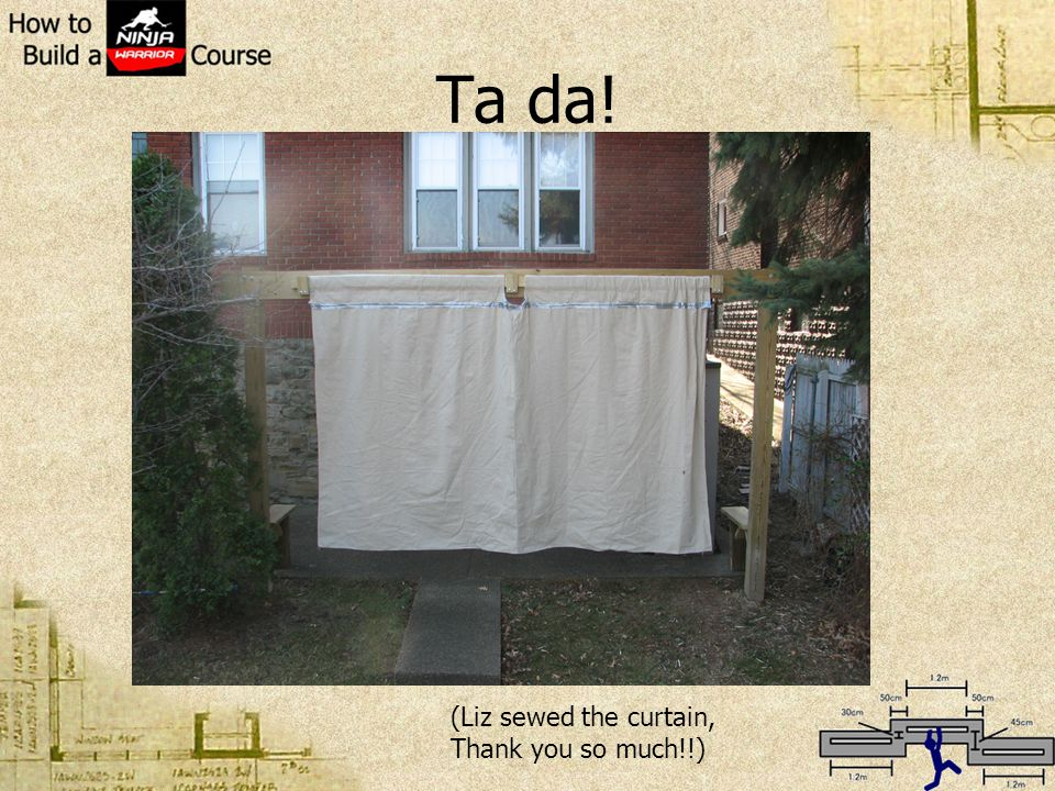 Ta da! (Liz sewed the curtain, Thank you so much!!)