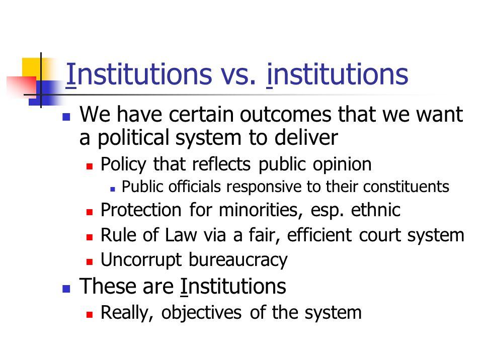 Institutions vs.
