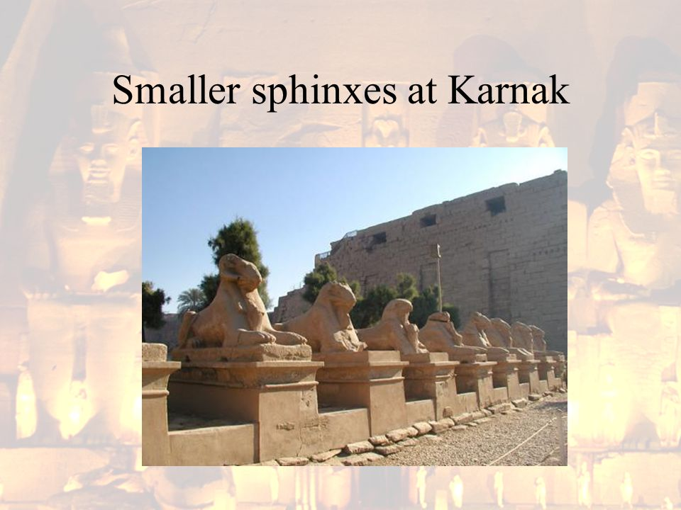 Smaller sphinxes at Karnak
