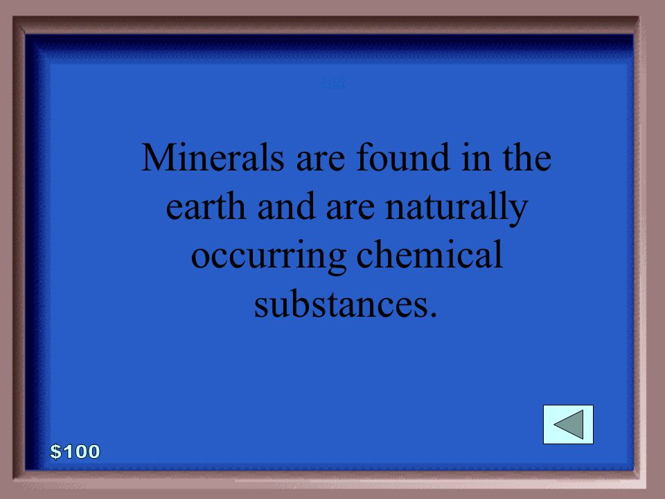 2-100 1 - 100 What is a mineral