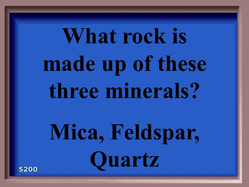 2-100A 1 - 100 Minerals are found in the earth and are naturally occurring chemical substances.