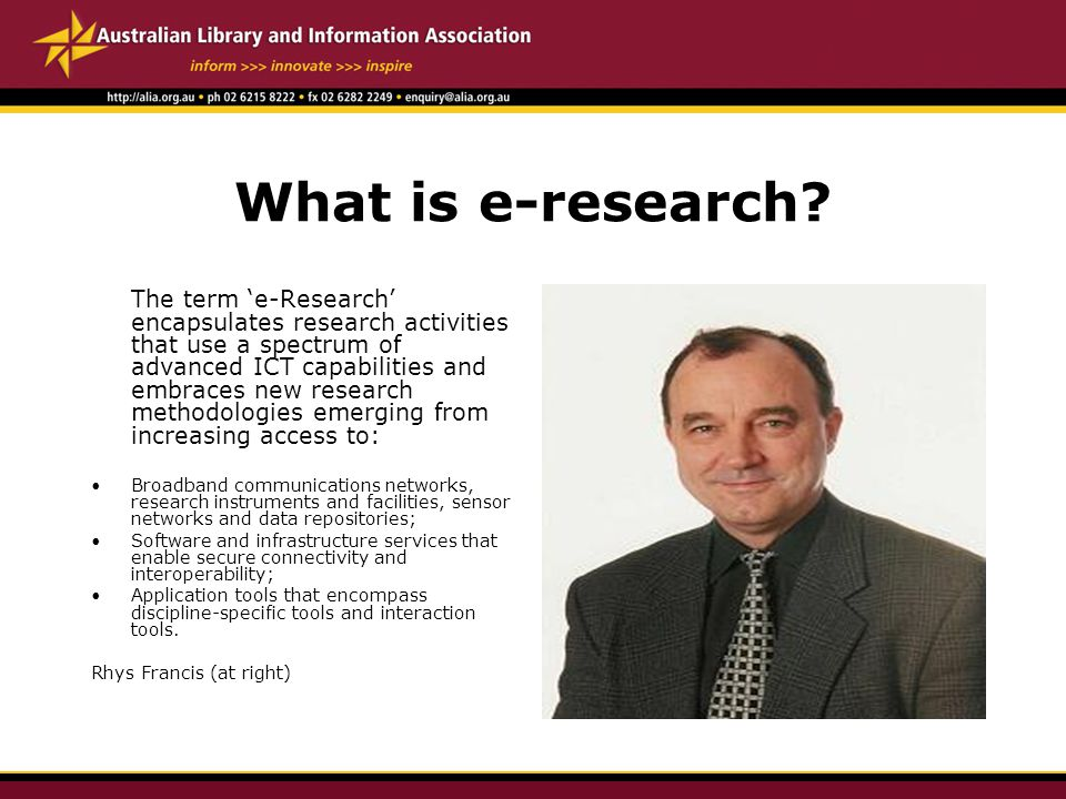 What is e-research.