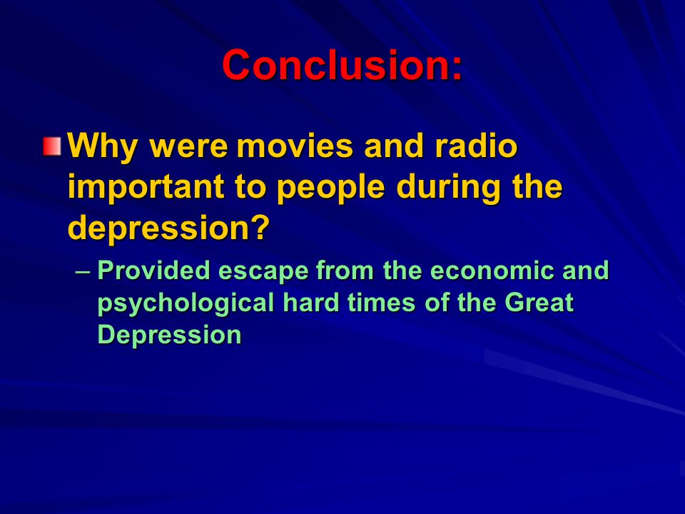 How did Radio help people to escape .