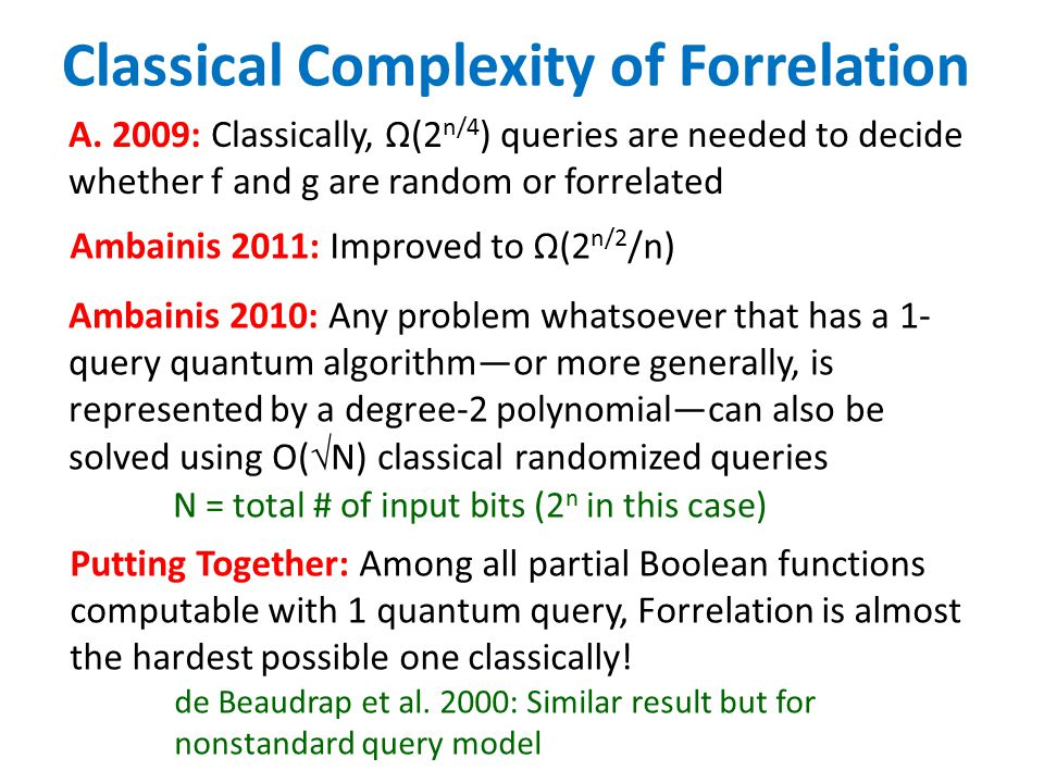 Classical Complexity of Forrelation A.