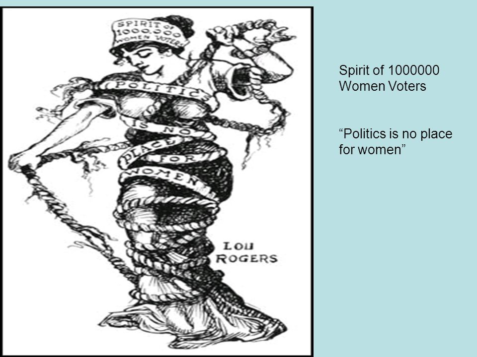 "Spirit of 1000000 Women Voters ""Politics is no place for women"""