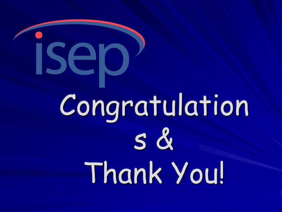 Congratulation s & Thank You!
