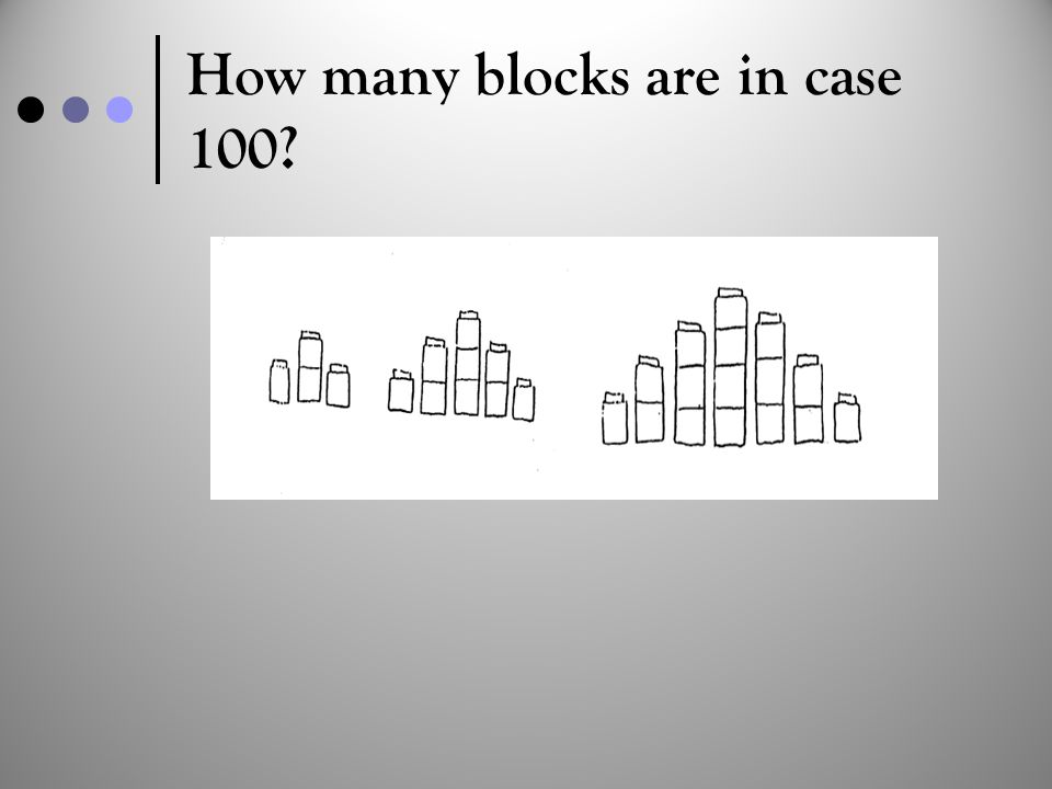 How many blocks are in case 100?
