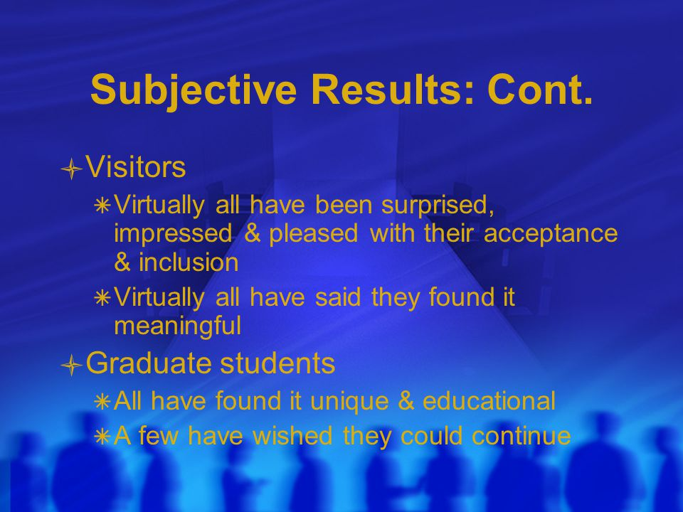 Subjective Results: Cont.