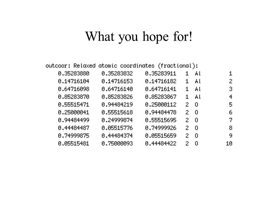 What you hope for!