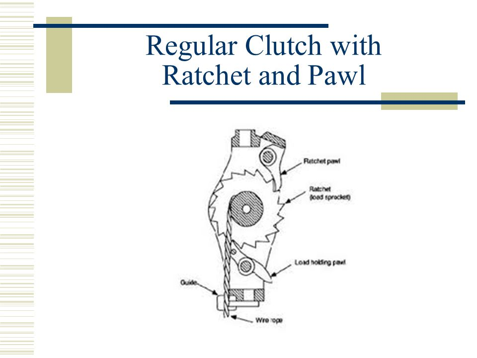Regular Clutch with Ratchet and Pawl