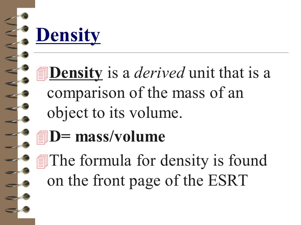 Density and Specific Gravity Density is a measure of how tightly packed a substance ' s atoms are.