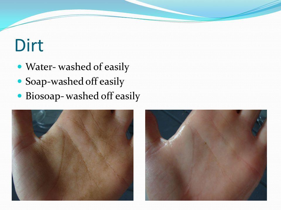 Pen Water- left streak Soap- left faint streak Biosoap- washed of completely