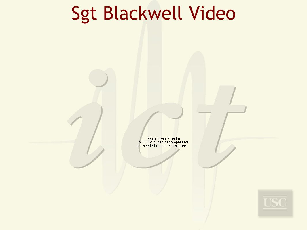 Sgt Blackwell Video