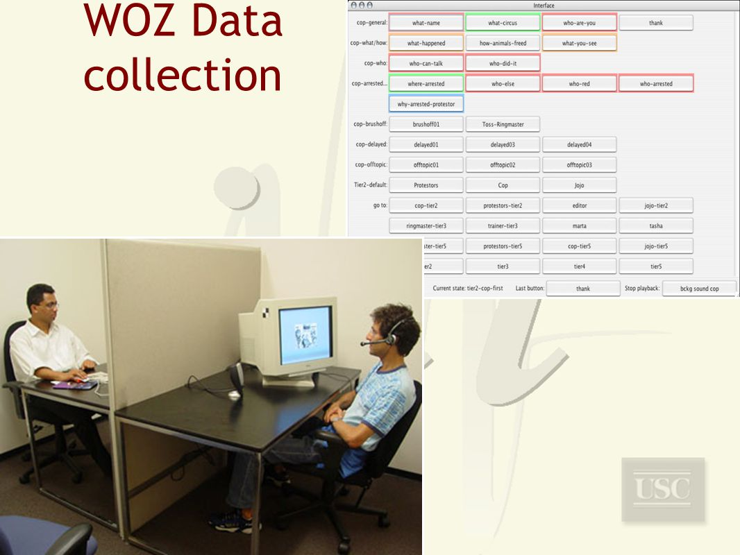 WOZ Data collection