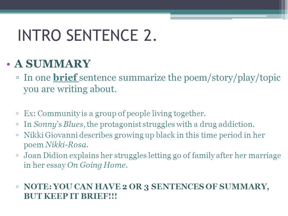 INTRO SENTENCE 2.