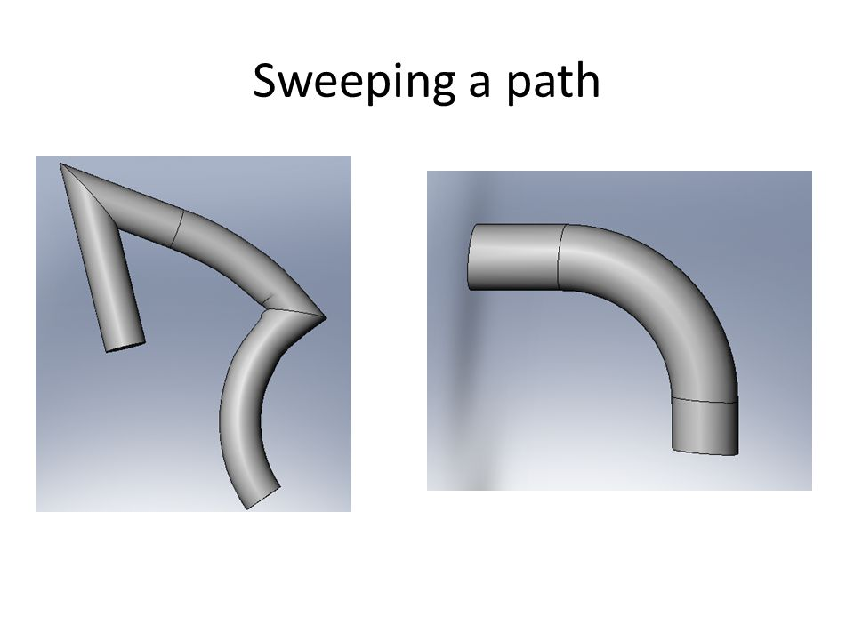Sweeping a path