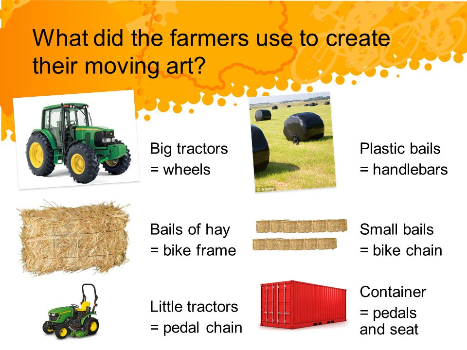 What did the farmers use to create their moving art.
