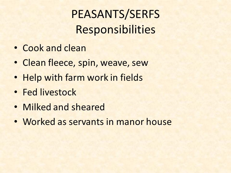 PEASANTS/SERFS Opportunities Limited.