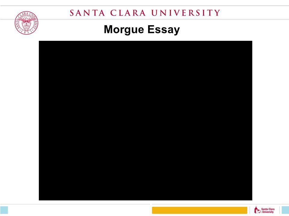 Morgue Essay
