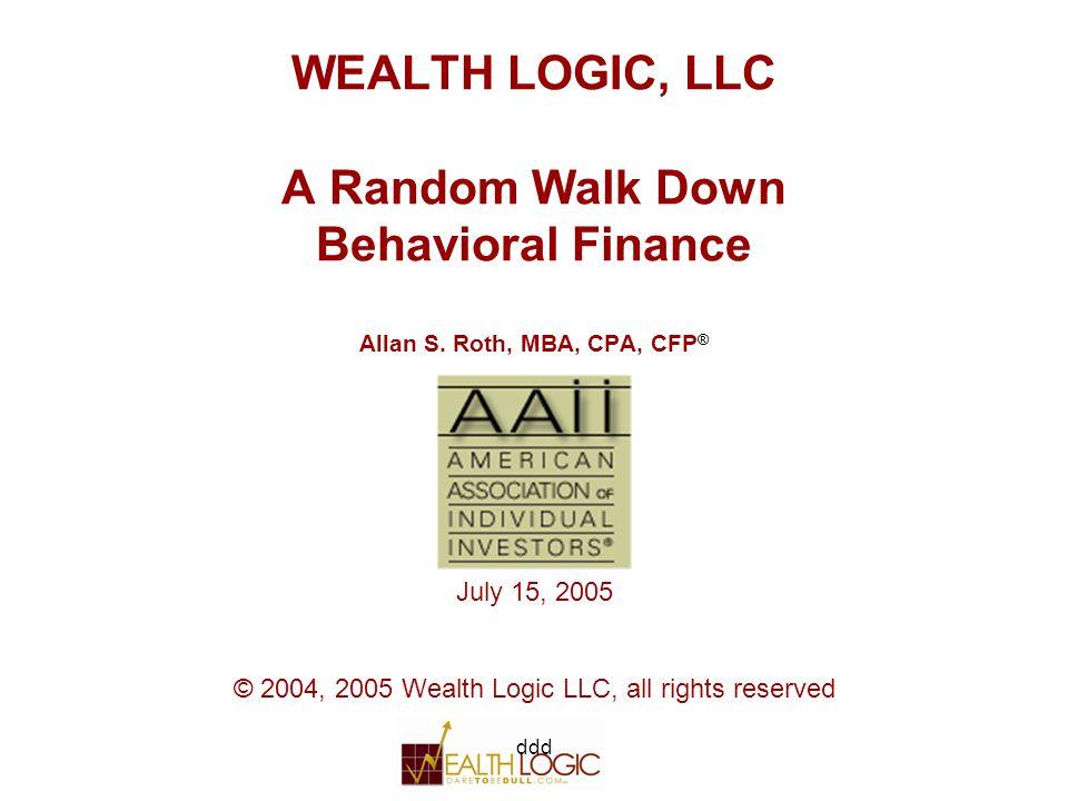 ddd22 Behavioral Finance