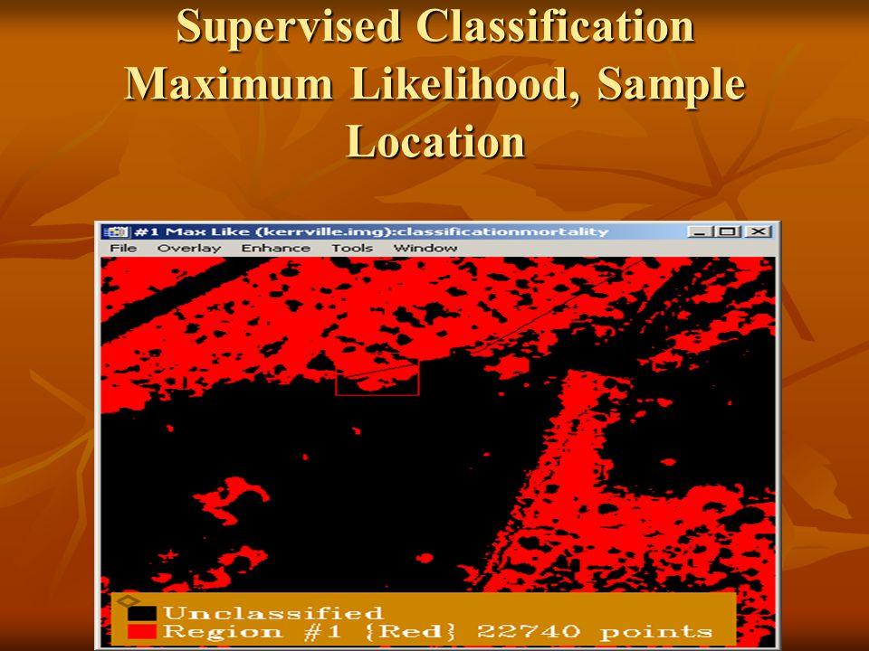 Supervised Classification Maximum Likelihood, Sample Location