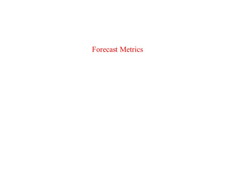 Forecast Metrics