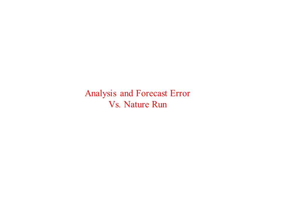 Analysis and Forecast Error Vs. Nature Run