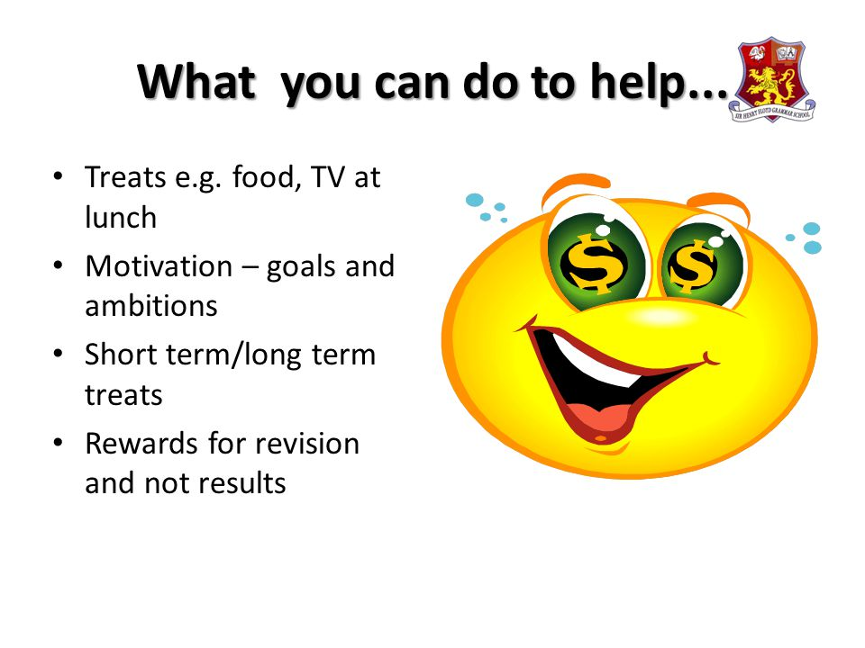 What you can do to help... Treats e.g.