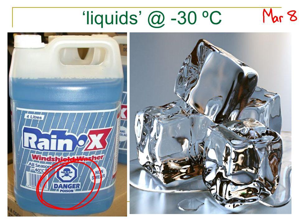 'liquids' @ -30 ºC
