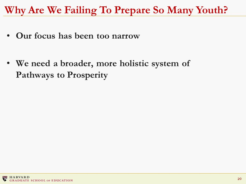 20 Why Are We Failing To Prepare So Many Youth.