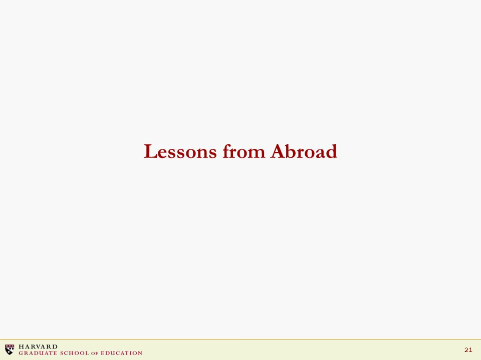 21 Lessons from Abroad