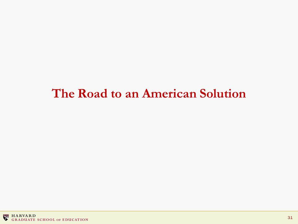 31 The Road to an American Solution