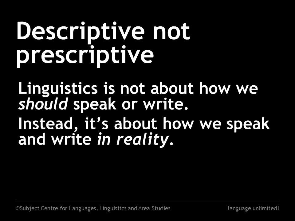 ©Subject Centre for Languages, Linguistics and Area Studieslanguage unlimited.