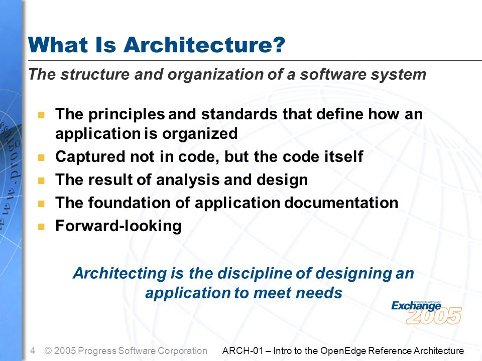 25© 2005 Progress Software Corporation ARCH-01 – Intro to the OpenEdge Reference Architecture Thank you for your time!