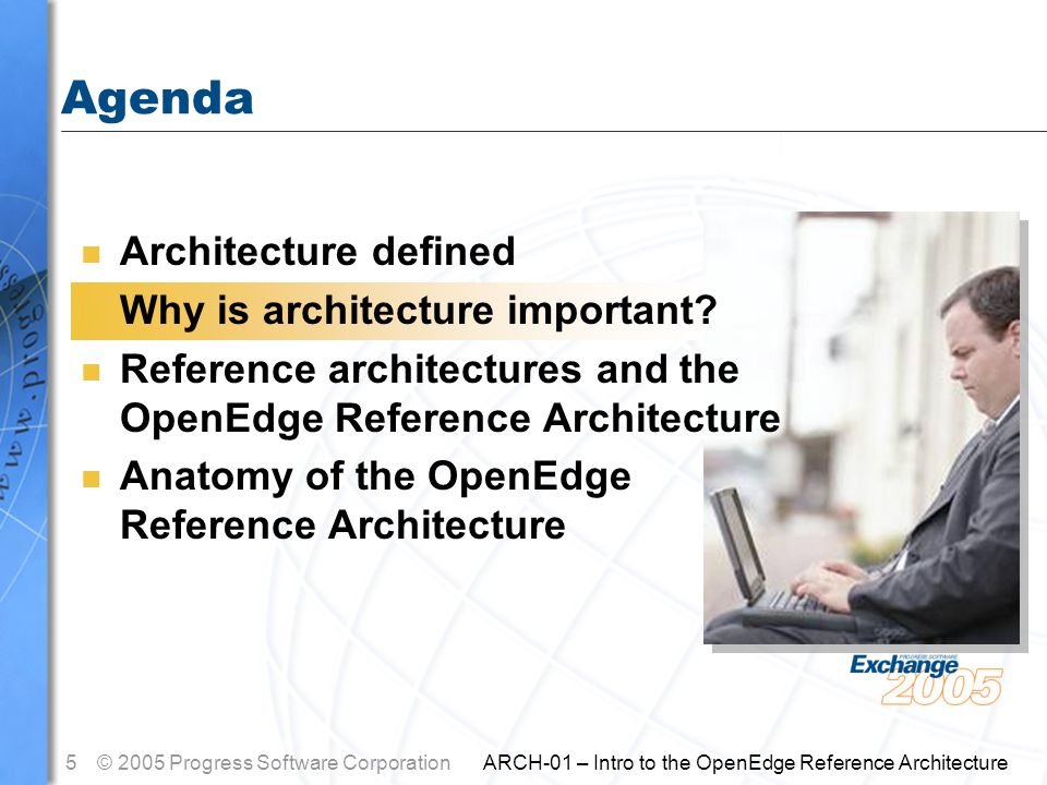 6© 2005 Progress Software Corporation ARCH-01 – Intro to the OpenEdge Reference Architecture Why Is Architecture Important.