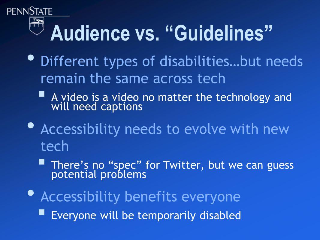Audience vs.