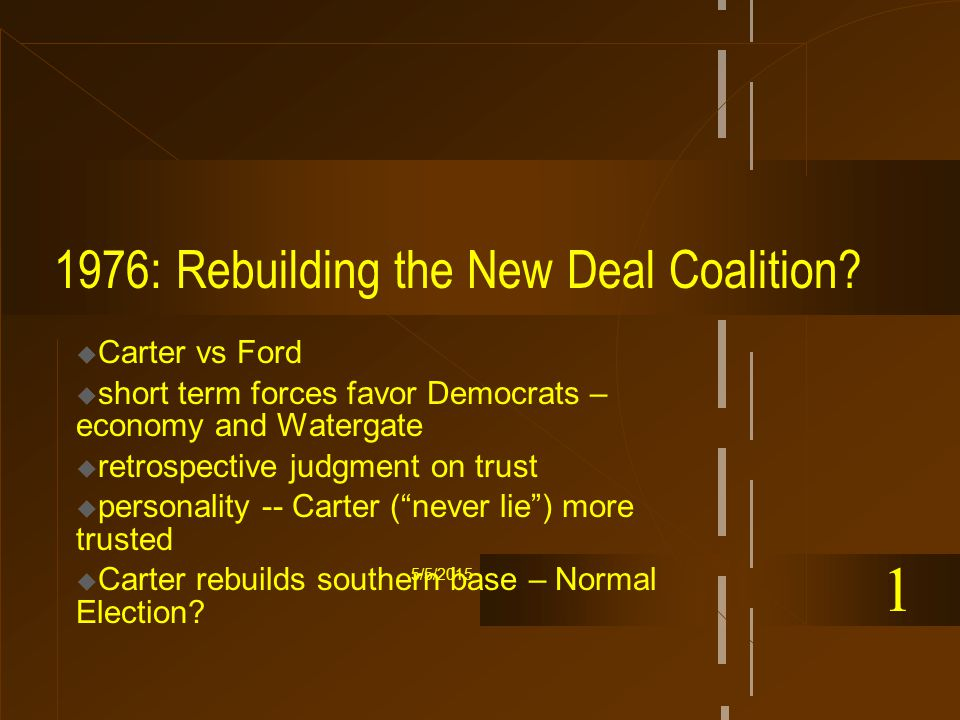 5/5/2015 1976: Rebuilding the New Deal Coalition.