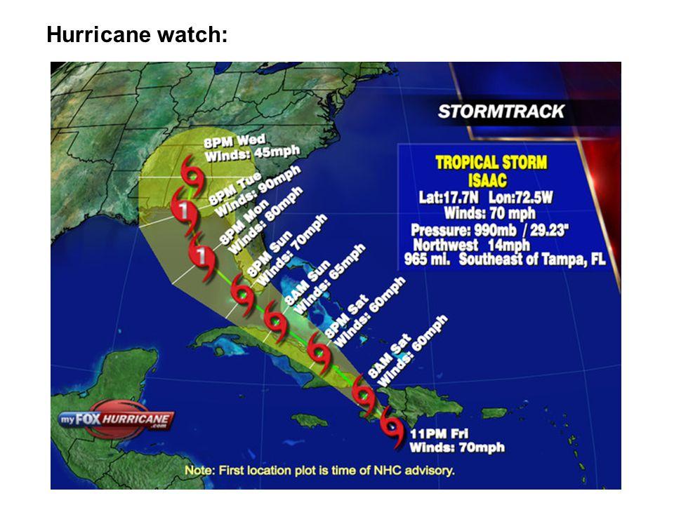 Hurricane watch: