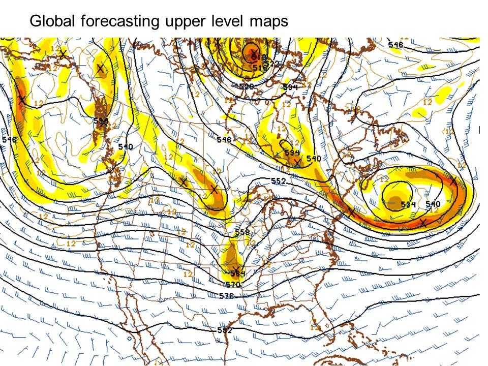 Global forecasting upper level maps